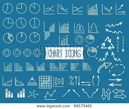 Business Graph Icons Set