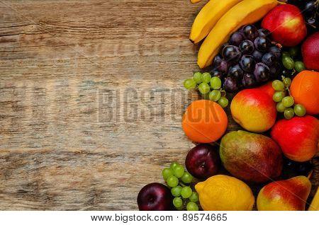Mango, Lemon, Plum, Grape, Pear, Orange, Apple, Banana