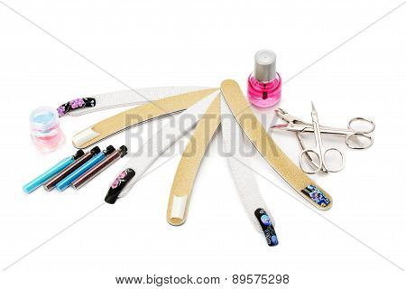 Set Of Tools For Manicure