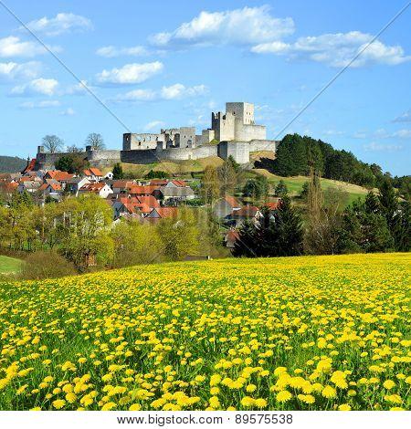 Medieval Stone Castle Ruins Rabi - Czech Republic