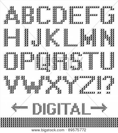 Pixel Font Background.