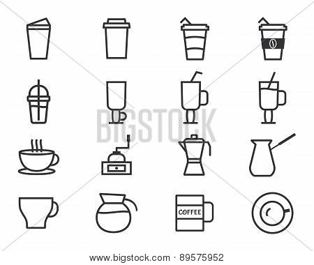 Coffee Outline Elements