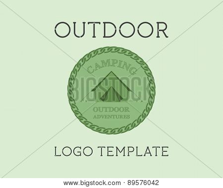 Adventure Outdoor Tourism Travel Logo Template Vintage Labels Design. Campground, Campsite. Explorat