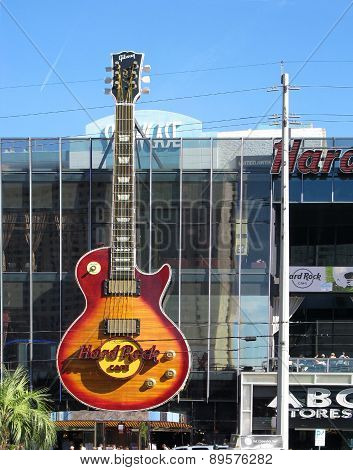 LAS VEGAS, NEVADA, USA  - NOVEMBER 11: The Hard Rock Cafe in Las Vegas  2012
