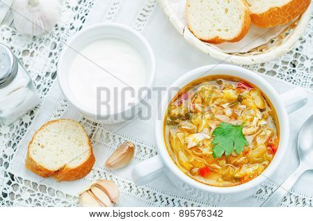 Chicken Soup With Cabbage