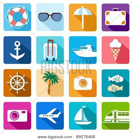 Icons Vacation, Tourism, Sea,...