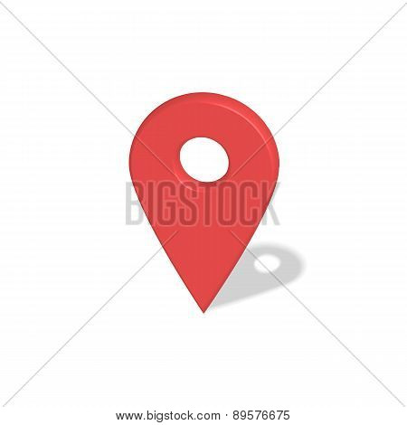Location red pointer