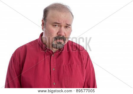 Upset And Disappointed Frowning Middle-aged Man