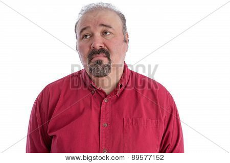 Middle-aged Man Looking With Depressed Expression