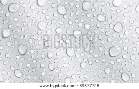 Gray Background Of Water Drops
