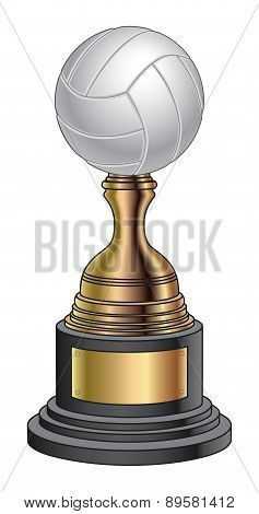 Volleyball Trophy - Gold and Black Base