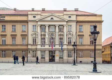 ZAGREB, CROATIA - 12 MARCH 2015: Croatian parliament in Upper town.