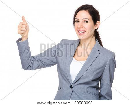 Businesswoman thumb up gesture