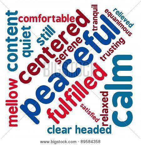 Peaceful Word Cloud