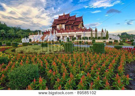 Ratchaphreuk Garden at Chiang Mai Thailand