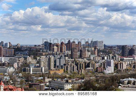 Kiev cityscape in spring