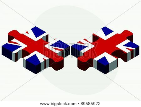 United Kingdom And United Kingdom Flags In Puzzle
