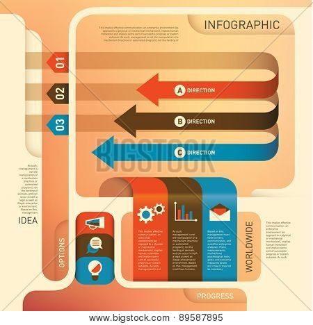 Conceptual business info graphic design. Vector illustration.