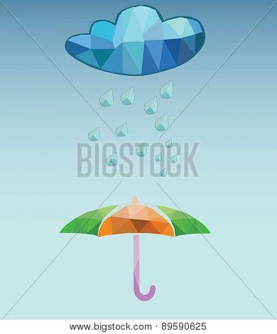 vector rainy day