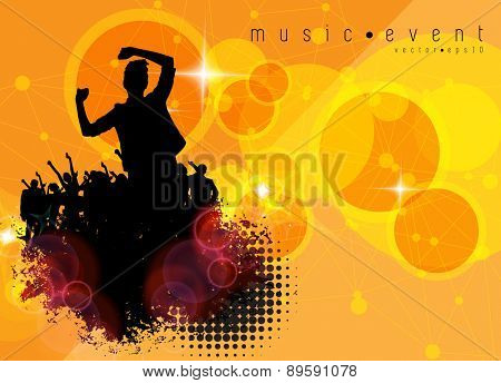 Party people vector background