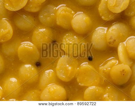 Indian Vegetarian Dahl Curry Food Background