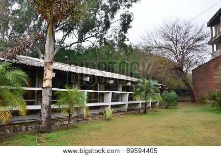 Chandigarh, India - January 4, 2015: Tourist Visit Le Corbusier Centre In Chandigarh, India.