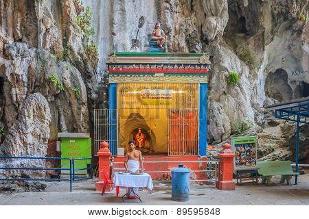 Hindu Altar At Batu Caves Temple
