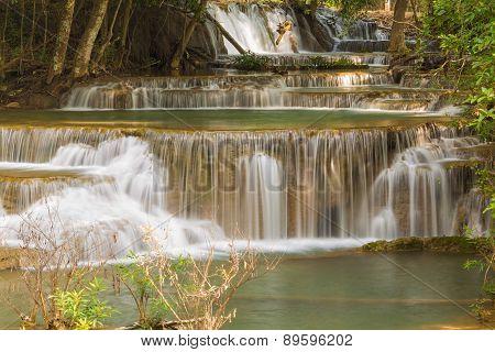 Spring season waterfalls in deep forest jungle