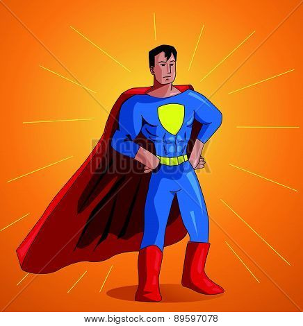 illustration of a superhero posing