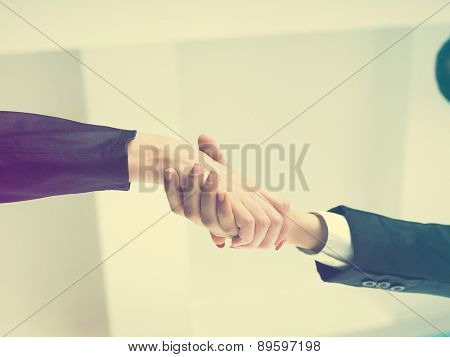 Office Handshake Handshaking low angle top