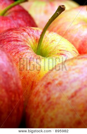 Apples With Water Droplets