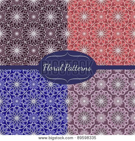 Collection Of Abstract Floral Patterns