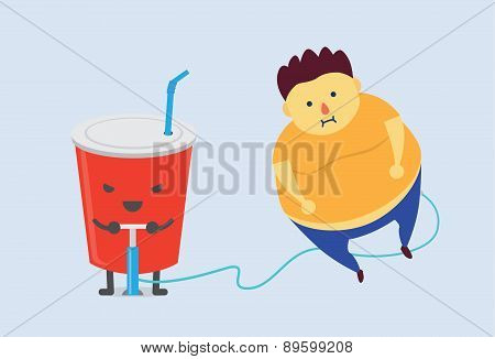 Soft drink made you fat fast
