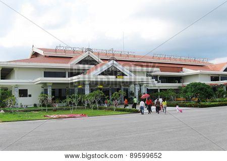 NATHON SI THAMMARAT, THAILAND - OCTOBER 18, 2013: Building of Airport.