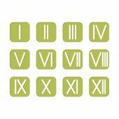 stock photo of roman numerals  - Set Roman numerals 1 - JPG