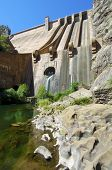 foto of hydroelectric  - Hydroelectric dam with blue sky in Spain - JPG