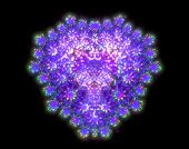 pic of fractals  - Symbolic diamond heart - JPG