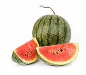 pic of melon  - water melon slice isolated on white background  - JPG