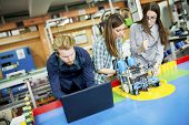 picture of robotics  - Young people studying in the robotics classroom - JPG