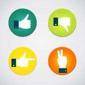 picture of peace  - Thumbs up icons set - JPG
