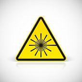 foto of hazard  - Laser Hazard warning sign - JPG