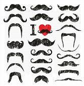 picture of moustache  - Moustaches set - JPG
