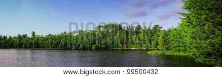 Lost Lake Panorama, Voyageurs National Park, Minnesota, USA.