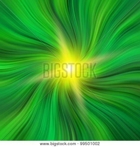 Green Vortex With A Starburst