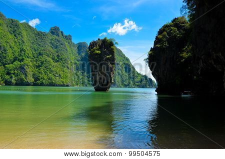 rock in Andaman sea