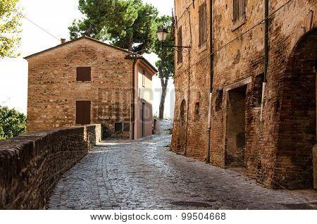 Santarcangelo, borgo medievale, Italia