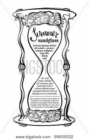 Vector Sandglass Illustration.