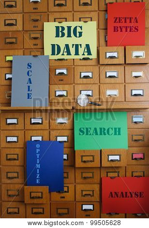 Storage And Search Big Data - Technology Concept