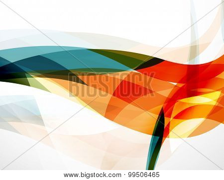 Wave background, geometric color composition. Abstract background with copyspace.  illustration