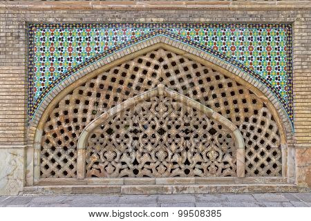 Golestan Palace window exterior